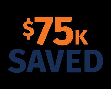 75K saved